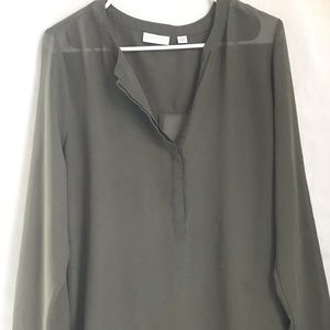 New York & Co. tunic- olive green Large